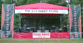 stage rental & roof show photos